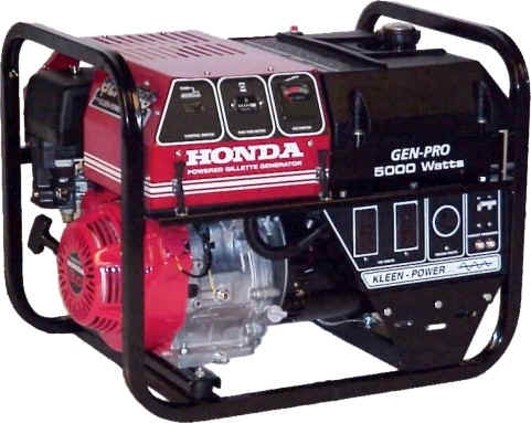 GPN-50H GPN-50EH GenPro Portable Generator 5000W, 120/240Vac Honda OHV  Engine with optional electric startNoOutage